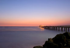 Famous jetty in Swakopmund, northwestern Namibia Stock Photography