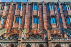 Famous John Rylands Library. Manchester - city in North West England (UK). Detail of the Famous John Rylands Library Stock Images