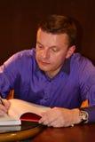 Famous journalist Leonid Parfenov Royalty Free Stock Image