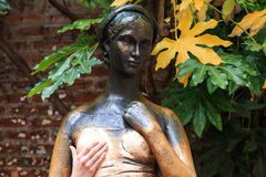 Famous Juliet statue of Verona Italy Royalty Free Stock Photo