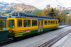 Famous Jungfrau Bahn Royalty Free Stock Images