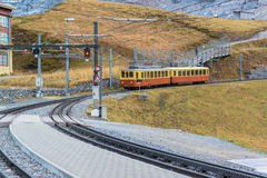 Famous Jungfrau Bahn with Beautiful Mountain Royalty Free Stock Photos