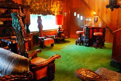 Jungle Room at Graceland,. The Famous Jungle Room at Graceland, Home of Elvis Presely stock images