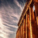 Famous jupiter columns Stock Photos
