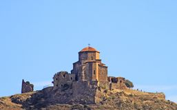 Famous Jvari church near Tbilisi Royalty Free Stock Photo