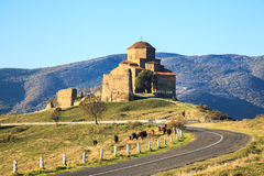 Famous Jvari Monastery Royalty Free Stock Image