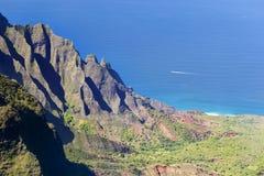 Kalalau Valley, Kauai. The famous Kalalau Valley in Kauai, Hawaii Royalty Free Stock Photos