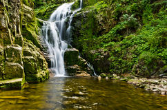 Famous Kamienczyk waterfall, Poland Stock Images