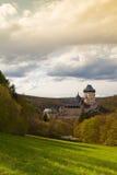 Famous Karlstejn castle  in autumn forest,Czech Republic Royalty Free Stock Photos