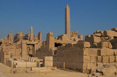 Famous Karnak temple complex of Amon Ra in Luxor Royalty Free Stock Photos