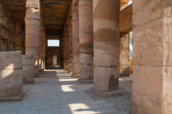 Famous Karnak temple complex of Amon Ra in Luxor Stock Photos