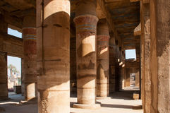 Famous Karnak temple complex of Amon Ra in Luxor Stock Images
