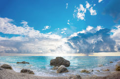 The famous Kathisma beach in Lefkada Royalty Free Stock Image
