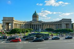 The famous Kazansky Cathedral in Petersburg Russia royalty free stock images