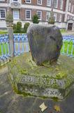 Famous king pronounciation stone in Kingston, London Stock Photography