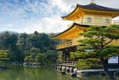 Famous Kinkaku-ji Golden Pavilion temple in Kyoto, Japan Royalty Free Stock Photos