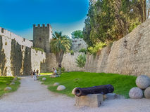 The famous Knights Grand Master Palace in Rhodes Greece Stock Photography
