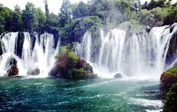 Famous Kravica waterfalls Royalty Free Stock Images