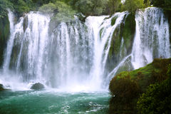 Famous Kravica waterfalls Royalty Free Stock Photography