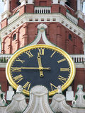 Famous Kremlin clock Royalty Free Stock Image