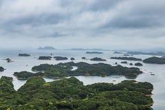Famous kujuku Islands overlook in Sasebo, Kyushu Stock Photos
