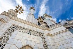 Famous Kul Sharif mosque in Kazan Kremlin. Against the blue sky royalty free stock images
