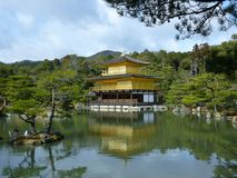 Golden Temple, Kinkakuji, Kyoto Japan Royalty Free Stock Photo