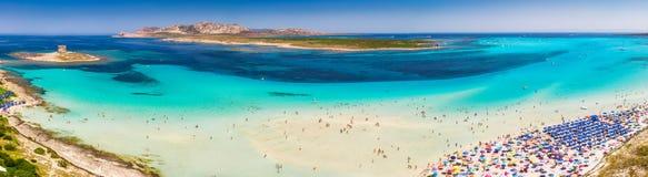 Free Famous La Pelosa Beach On Sardinia Island, Sardinia, Italy Royalty Free Stock Photography - 154401067