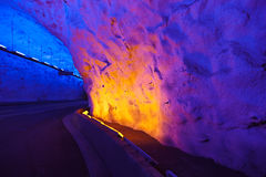 Famous Laerdal Tunnel in Norway Royalty Free Stock Photography