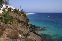 The famous lagoon in Caleta del Fuste, Fuerteventura Royalty Free Stock Photos