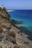 The famous lagoon in Caleta del Fuste, Fuerteventura Stock Photos