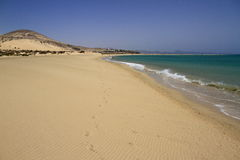 The famous lagoon in Risco El Paso at Playas de Sotavento, Fuert. Eventura, Canary Islands, Spain stock photo