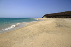 The famous lagoon in Risco El Paso at Playas de Sotavento, Fuert. Eventura, Canary Islands, Spain stock images