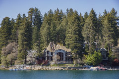 The famous Lake arrowhead. San Bernardino, APR 19: The famous Lake arrowhead on APR 19, 2017 at San Bernardino Royalty Free Stock Photography