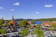 The famous Lake arrowhead. San Bernardino, MAY 31: The famous Lake arrowhead on MAY 31, 2016 at San Bernardino Stock Images