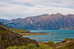 Famous Lake Hawea in Wanaka Royalty Free Stock Photos