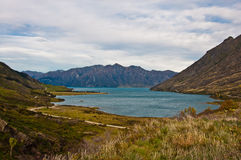 Famous Lake Hawea in Wanaka Royalty Free Stock Photo