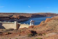 Famous Lake Powell (Glenn Canyon) Dam Near Page, Arizona, USA royalty free stock photos