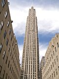 Famous Landmark. This is a shot of the GE Building, formally the RCA building at Rockefeller Center in New York City royalty free stock photo