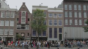 Famous landmark in Amsterdam - The Anne Frank House at Prince´s Canal - AMSTERDAM - THE NETHERLANDS - JULY 19, 2017
