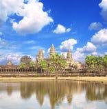 Famous landmark Angkor Wat complex, khmer culture, Siem Reap, Ca Stock Photography