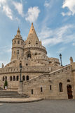 Famous landmark in Budapest - Fisherman's Bastion on Buda Hill. HDR. Royalty Free Stock Image