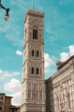The famous landmark Campanile di Giotto. Italy, Florence. The famous landmark Campanile di Giotto, close to Duomo di Firenze Stock Photos