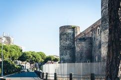 Famous landmark Castello Ursino, ancient castle in Catania, Sicily, Southern Italy royalty free stock photography
