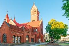 Famous landmark in the center of Minsk Church of Saints Simon Stock Photos