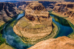 Famous landmark of the Colorado River. Canyon  Horseshoe Bend Stock Images