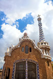 Famous landmark and Colorful architecture - Park Guell. In Barcelona, Spain, Europe stock images