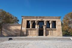 Famous Landmark Debod, egyptian temple in Madrid, Spain. Stock Images