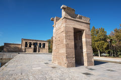Famous Landmark Debod, egyptian temple in Madrid, Spain. Royalty Free Stock Photos