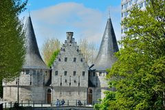 Famous landmark in Ghent , ancient building Stock Image